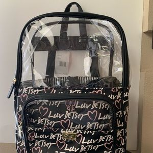 Luv Betsey- clear top back pack